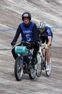 Leineweberpreis 2014 Matthias Acker mit Moritz Kaase beim Dernyfahren