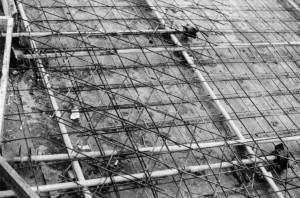 Hüllrohre und Stahlmatten, Foto: © Stadtarchiv Bielefeld