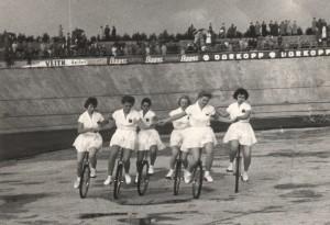 Einradfahren als Showeinlage, Sammlung P. G. Minner